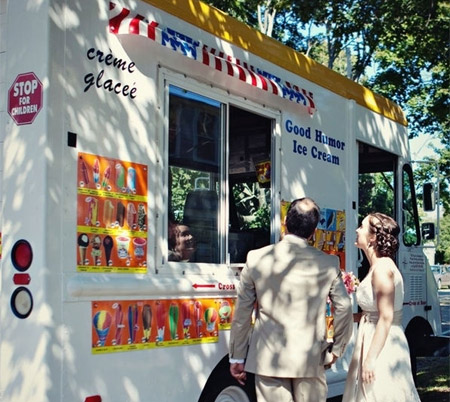 ice cream truck wedding